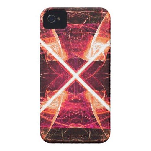 Digital Radial Colours Blur Glow Art Beautiful Des Case-Mate iPhone 4 Cases