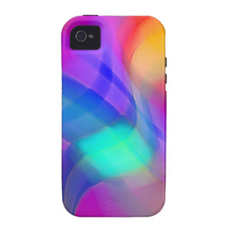 Digital Radial Colours Blur Glow Art Beautiful Des Case-Mate iPhone 4 Covers