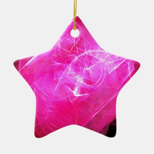 Digital Radial Colours Blur Glow Art Beautiful Des Ceramic Ornament