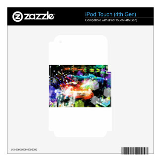 Digital Radial Colours Blur Glow Art Beautiful Des Decal For iPod Touch 4G