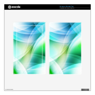 Digital Radial Colours Blur Glow Art Beautiful Des Decals For Kindle Fire