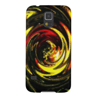 Digital Radial Colours Blur Glow Art Beautiful Des Galaxy S5 Cover