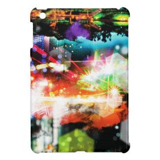 Digital Radial Colours Blur Glow Art Beautiful Des iPad Mini Cases