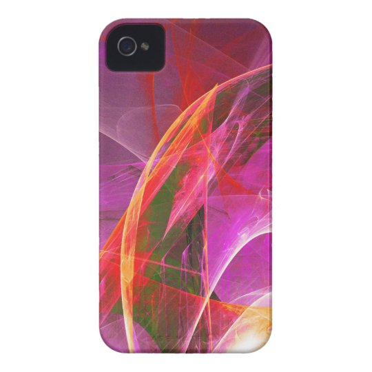 Digital Radial Colours Blur Glow Art Beautiful Des iPhone 4 Case-Mate Case