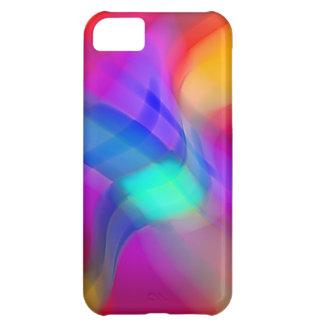 Digital Radial Colours Blur Glow Art Beautiful Des iPhone 5C Covers