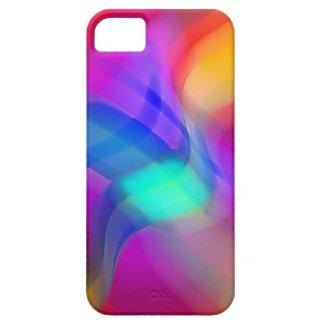 Digital Radial Colours Blur Glow Art Beautiful Des iPhone SE/5/5s Case