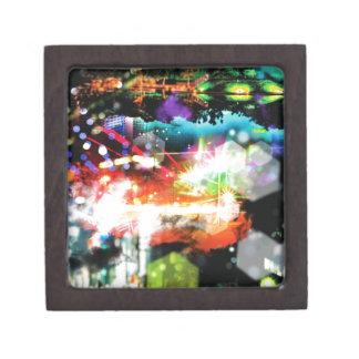 Digital Radial Colours Blur Glow Art Beautiful Des Jewelry Box