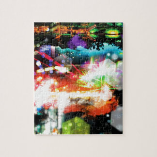 Digital Radial Colours Blur Glow Art Beautiful Des Jigsaw Puzzle