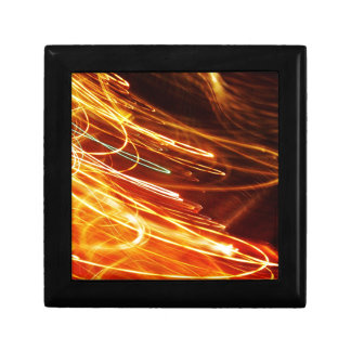 Digital Radial Colours Blur Glow Art Beautiful Des Keepsake Box