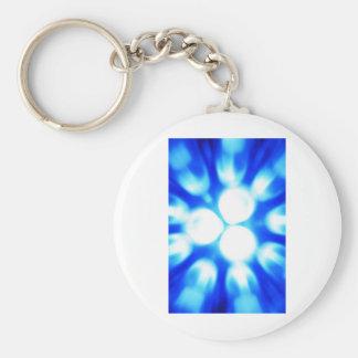Digital Radial Colours Blur Glow Art Beautiful Des Keychain