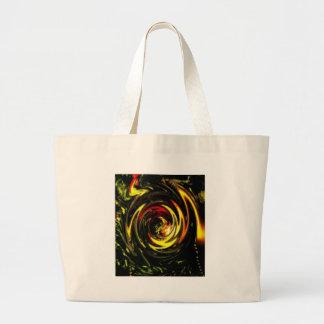 Digital Radial Colours Blur Glow Art Beautiful Des Large Tote Bag