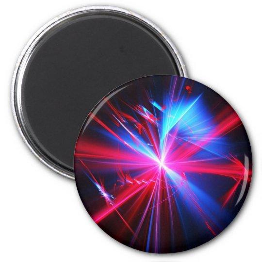 Digital Radial Colours Blur Glow Art Beautiful Des Magnet