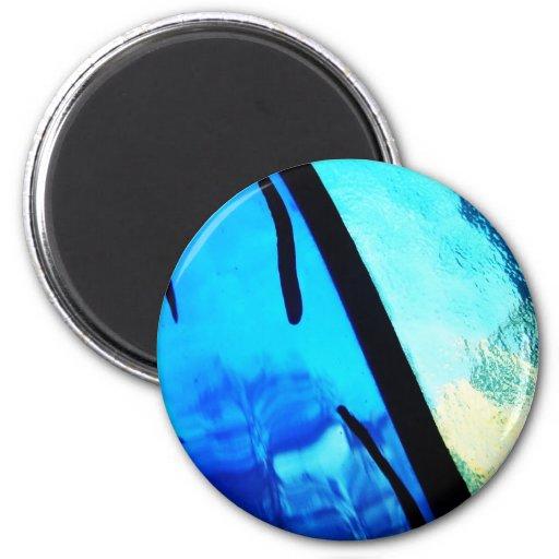 Digital Radial Colours Blur Glow Art Beautiful Des 2 Inch Round Magnet