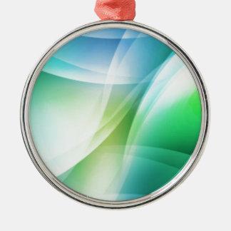 Digital Radial Colours Blur Glow Art Beautiful Des Metal Ornament