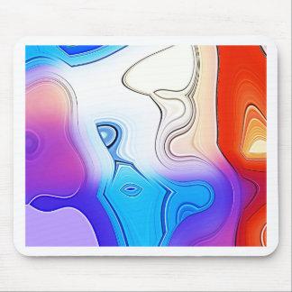 Digital Radial Colours Blur Glow Art Beautiful Des Mouse Pad
