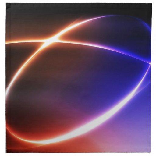 Digital Radial Colours Blur Glow Art Beautiful Des Cloth Napkin