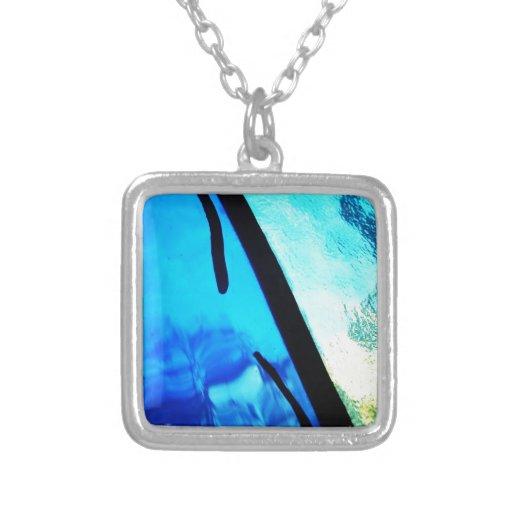 Digital Radial Colours Blur Glow Art Beautiful Des Necklaces