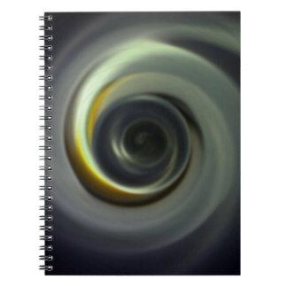 Digital Radial Colours Blur Glow Art Beautiful Des Notebook