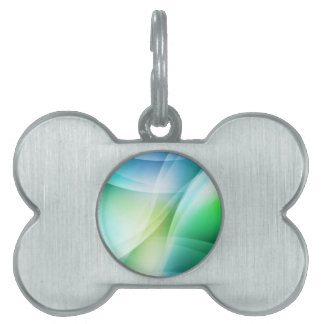 Digital Radial Colours Blur Glow Art Beautiful Des Pet Name Tag