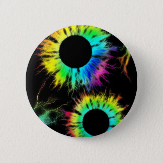 Digital Radial Colours Blur Glow Art Beautiful Des Pinback Button