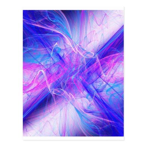 Digital Radial Colours Blur Glow Art Beautiful Des Postcard