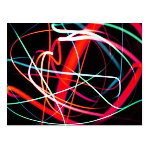 Digital Radial Colours Blur Glow Art Beautiful Des Post Cards