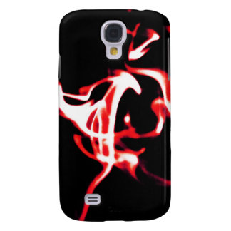 Digital Radial Colours Blur Glow Art Beautiful Des Samsung S4 Case