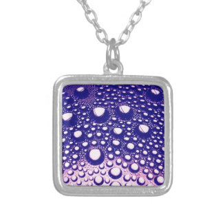 Digital Radial Colours Blur Glow Art Beautiful Des Silver Plated Necklace