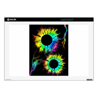 "Digital Radial Colours Blur Glow Art Beautiful Des 17"" Laptop Skin"