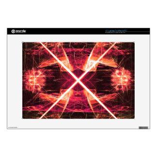 "Digital Radial Colours Blur Glow Art Beautiful Des Skin For 15"" Laptop"