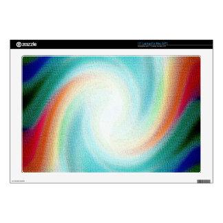 Digital Radial Colours Blur Glow Art Beautiful Des Skin For Laptop