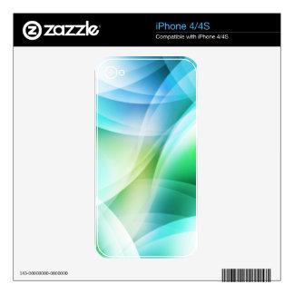 Digital Radial Colours Blur Glow Art Beautiful Des Skin For iPhone 4