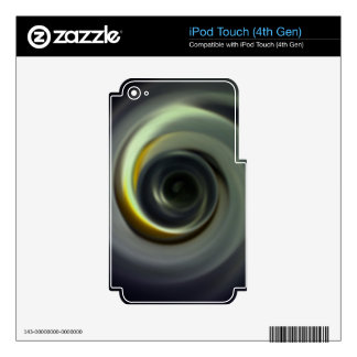 Digital Radial Colours Blur Glow Art Beautiful Des Skin For iPod Touch 4G