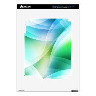 Digital Radial Colours Blur Glow Art Beautiful Des Skins For iPad 3