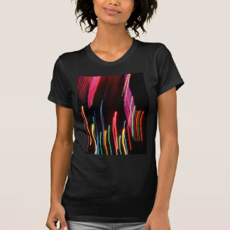 Digital Radial Colours Blur Glow Art Beautiful Des Tee Shirt