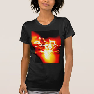 Digital Radial Colours Blur Glow Art Beautiful Des Shirt