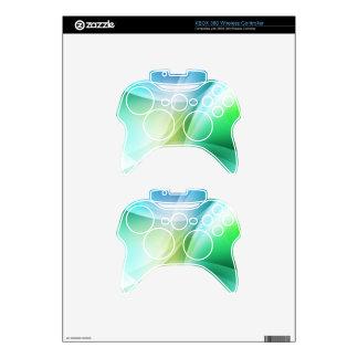 Digital Radial Colours Blur Glow Art Beautiful Des Xbox 360 Controller Skin