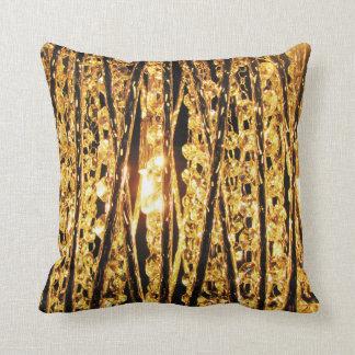 Digital Radial Colours Blur Glow Art Beautiful Throw Pillow