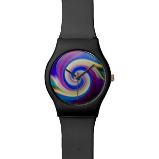 Digital Radial Colours Blur Glow Art Beautiful Wrist Watch
