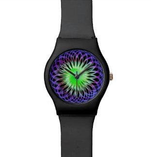Digital Radial Colours Blur Glow Art Beautiful Wristwatches
