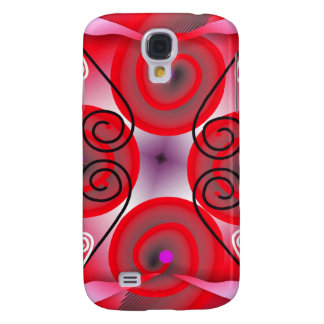 Digital Radial Colours Blur GlowArt Beautiful Desi Galaxy S4 Cover