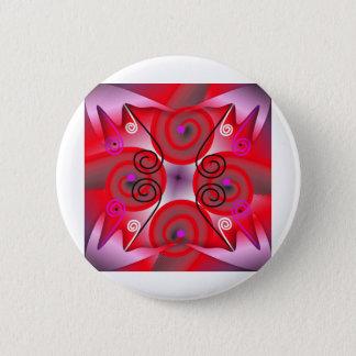 Digital Radial Colours Blur GlowArt Beautiful Desi Pinback Button