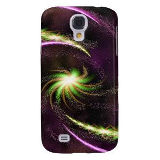 Digital Radial Colours Blur GlowArt Beautiful Desi Samsung Galaxy S4 Case