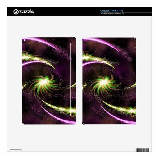 Digital Radial Colours Blur GlowArt Beautiful Desi Kindle Fire Decals