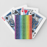 Digital Rainbow Bicycle Playing Cards