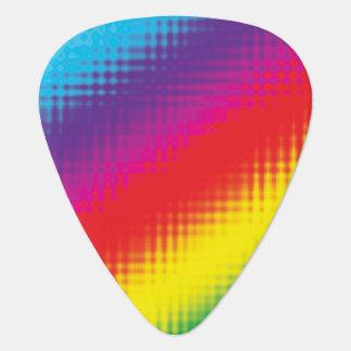 Digital Rainbow Lines Guitar Pick