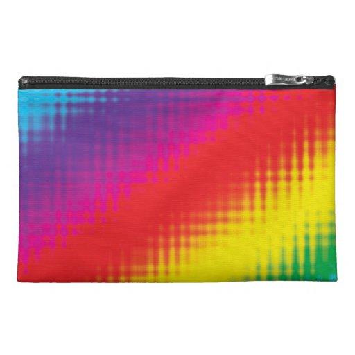 Digital Rainbow Lines Travel Accessories Bag