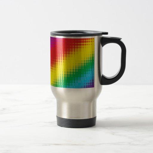 Digital Rainbow Lines Travel Mug