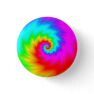 Digital Rainbow Spiral SHREDDED! Button