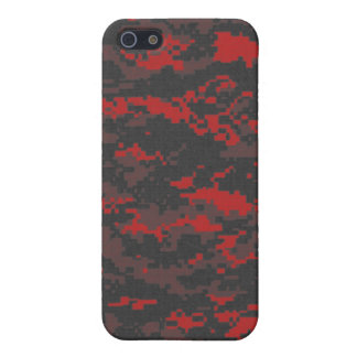 Digital Red Tiger Camo iPhone Case iPhone 5 Cases
